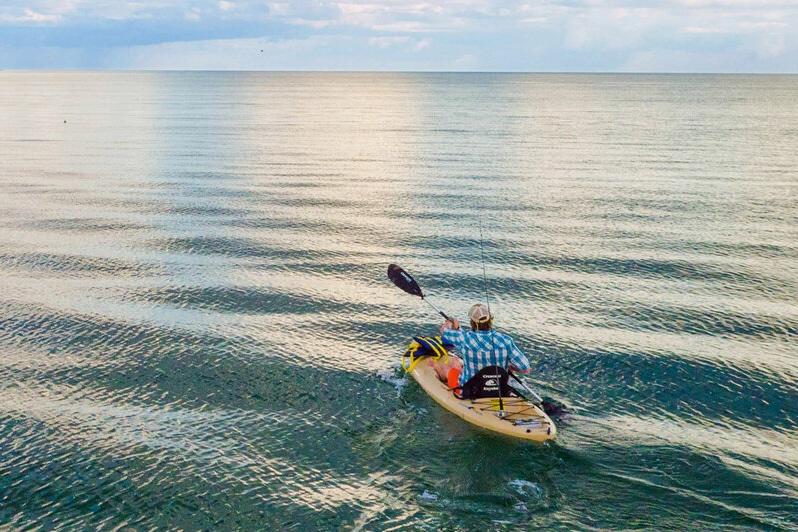 Kayak on ocean Sanibel Island