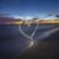 Heart on the beach Sanibel Island