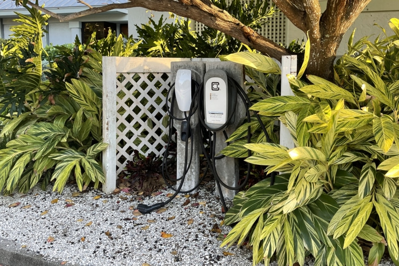 electric car chargers at South Seas Resort on Captiva Island